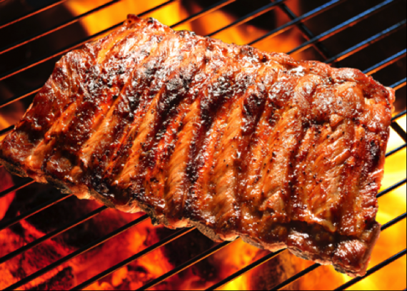CWE has a full BBQ menu, including ribs grilled fresh at your party!
