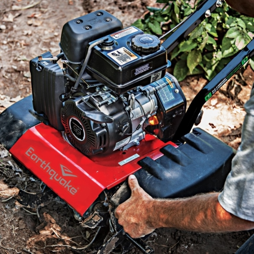 Earthquake VERSA converts from a powerful tiller into a nimble cultivator