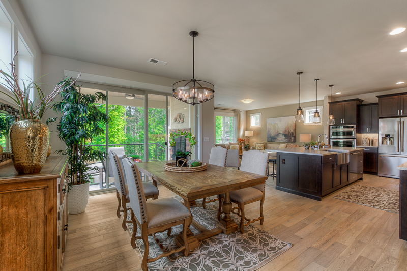 Great room living at Monterey Meadows in Renton, WA