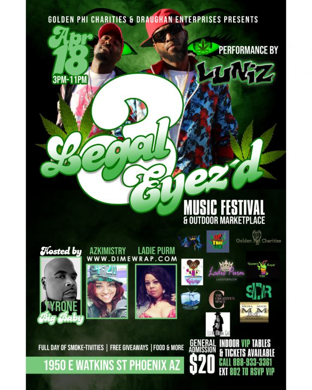 LEGAL EYEZ'D 3 Flier featuring the LUNIZ