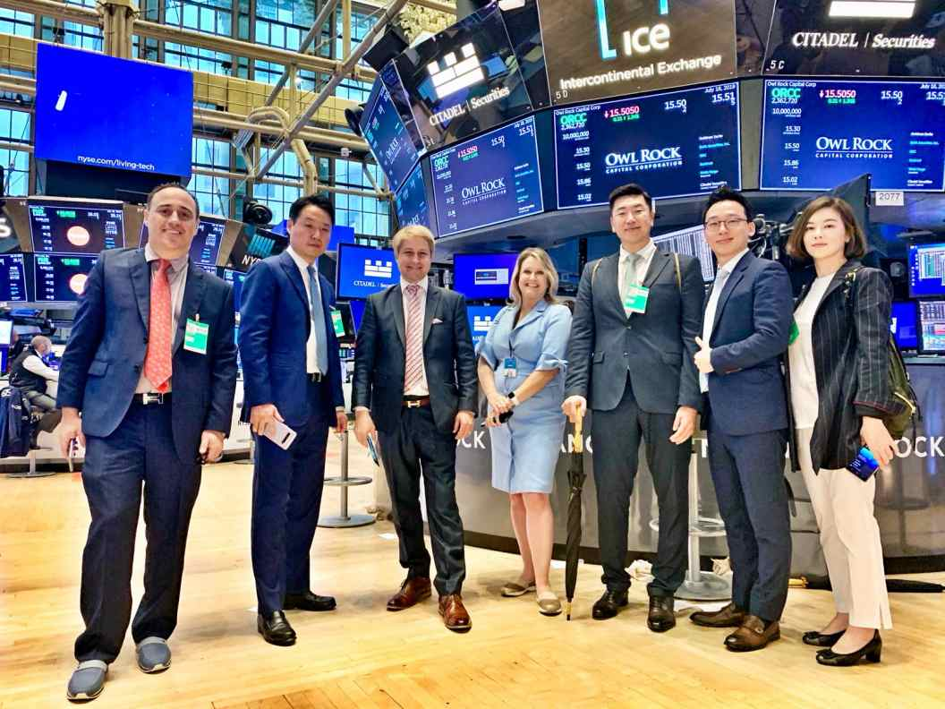 Starcave Global team and friends at the NYSE
