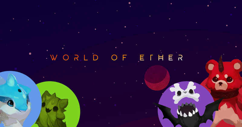 World of Ether crypto collectibles game